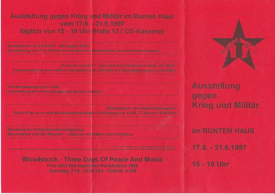Www Bunteshaus De 17 06 1997 Antikriegswoche