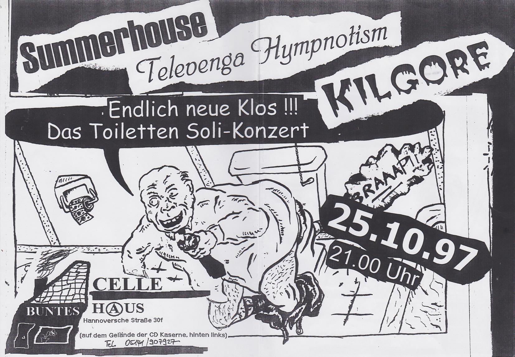 Www Bunteshaus De 25 10 1997 Konzert Kilgore Televenga Hympnotism