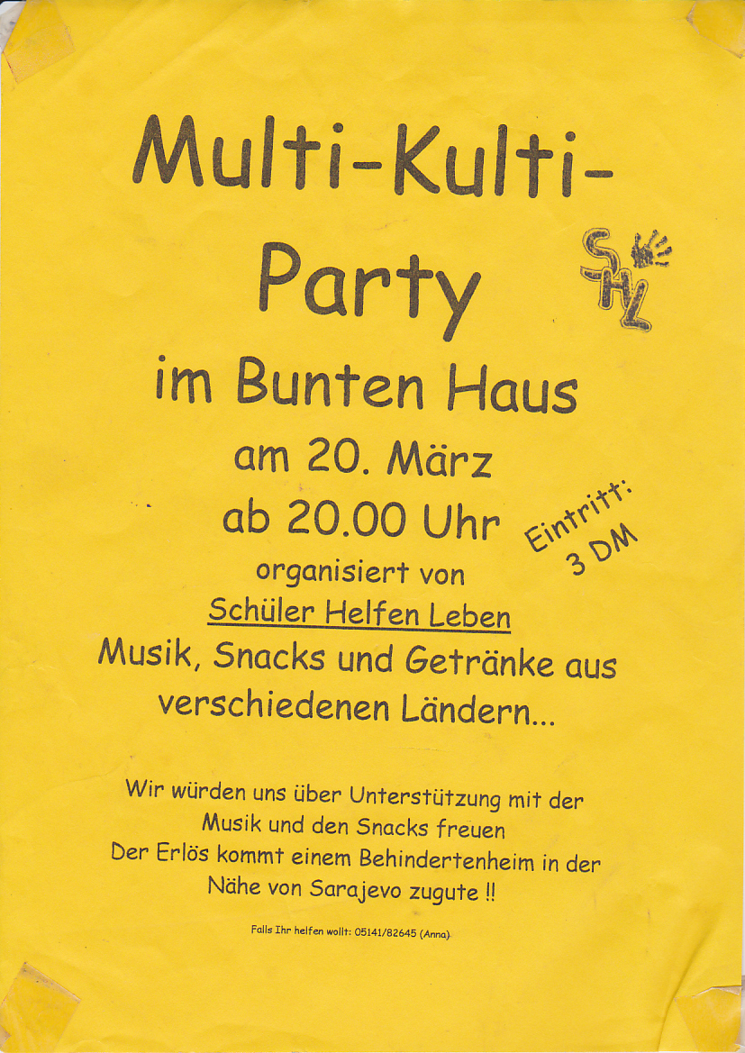 Www Bunteshaus De 20 03 1998 Multi Kulti Party
