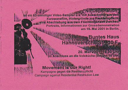 Www Bunteshaus De 20 05 2001 Video No Deportation